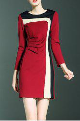 Color Block Fitted Mini Dress -