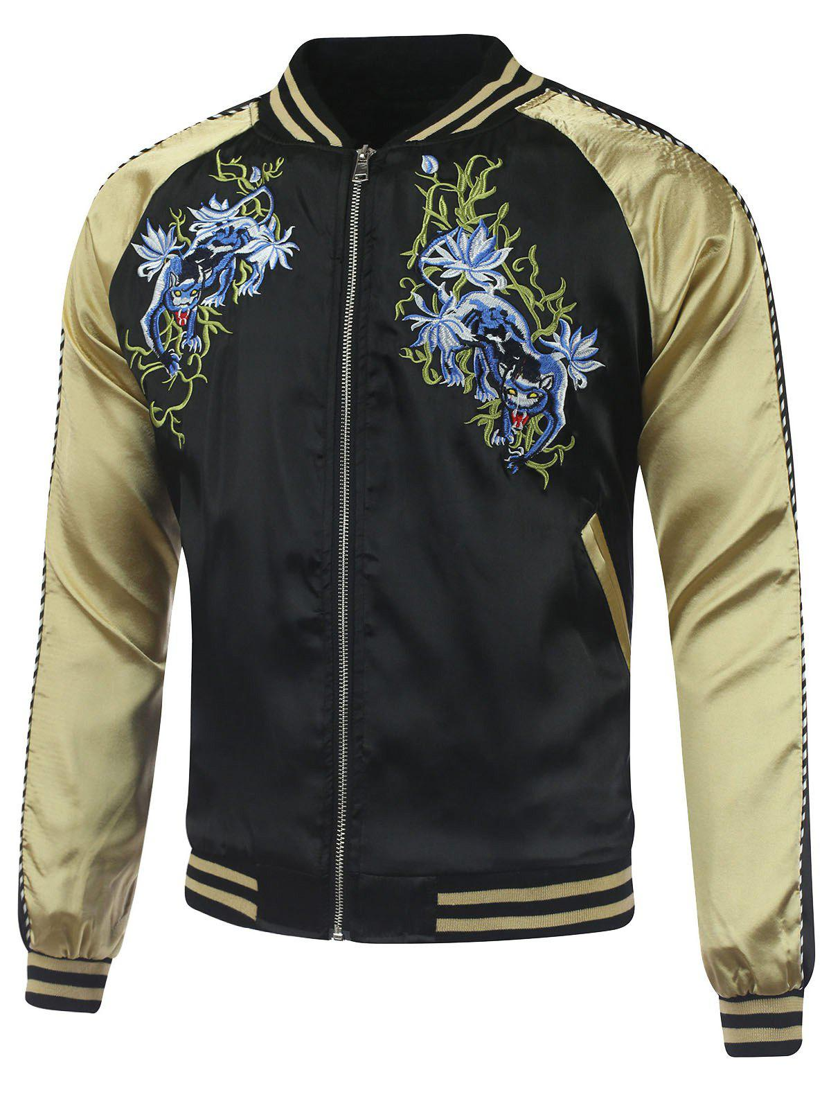 Cheap Kylin Embroidery Raglan Sleeve Souvenir Jacket