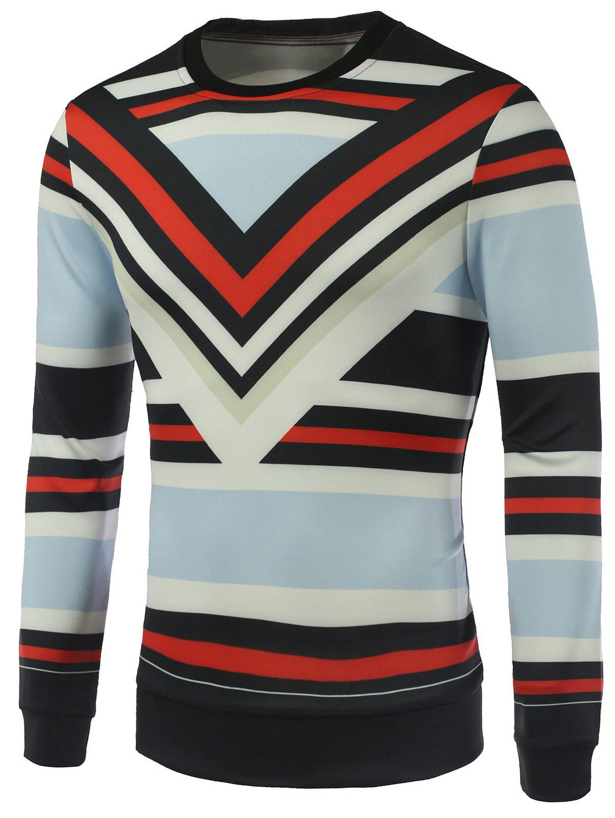 Stripe Imprimé Sweat ras du cou