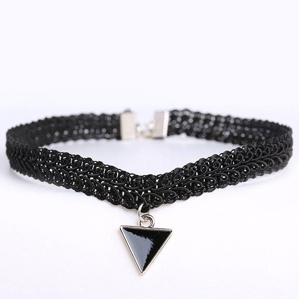 Trendy Vintage Triangle Statement Choker Necklace