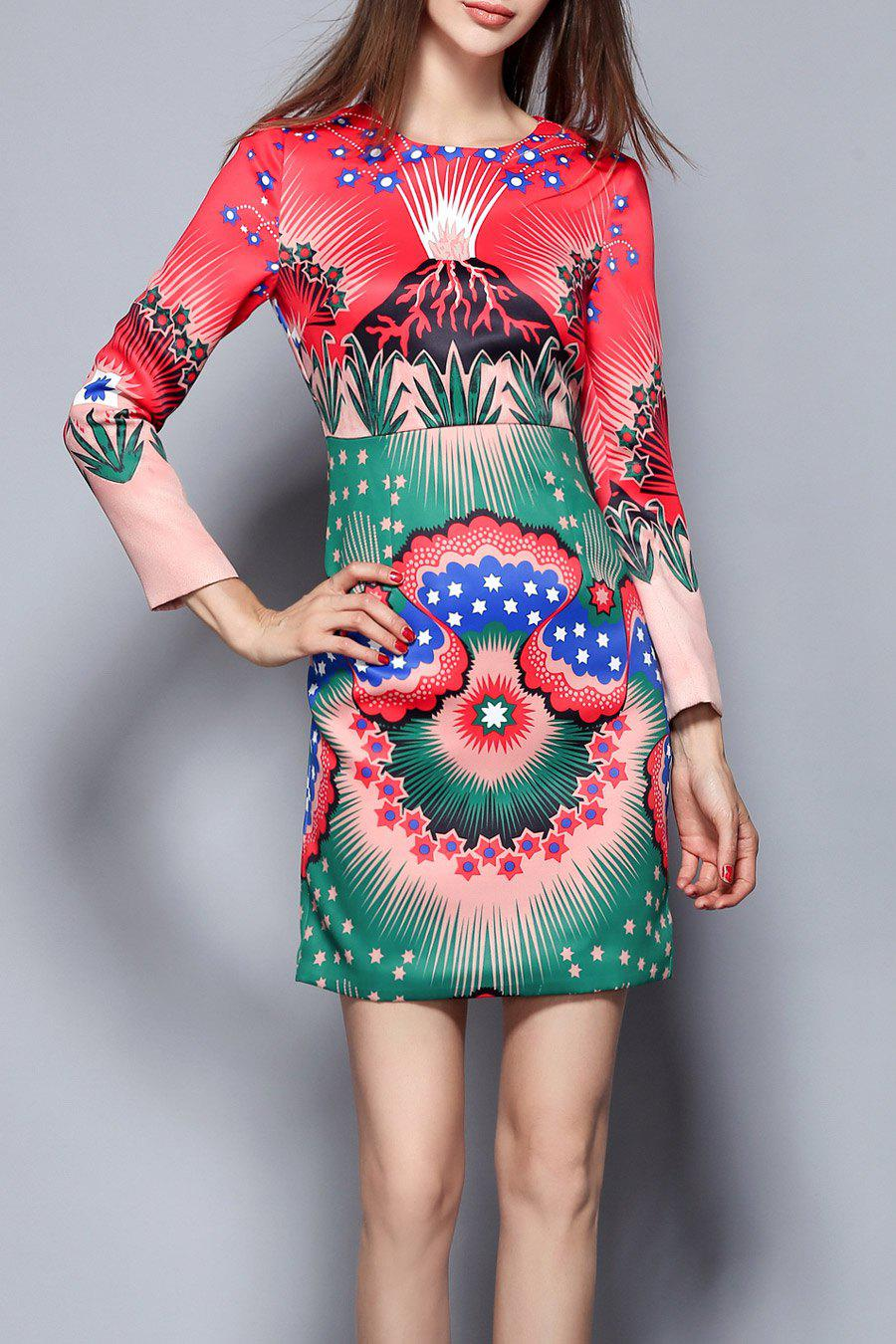 Affordable Fitted Print Mini Dress