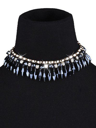 Cristal Artificielle Tassel Necklace Choker