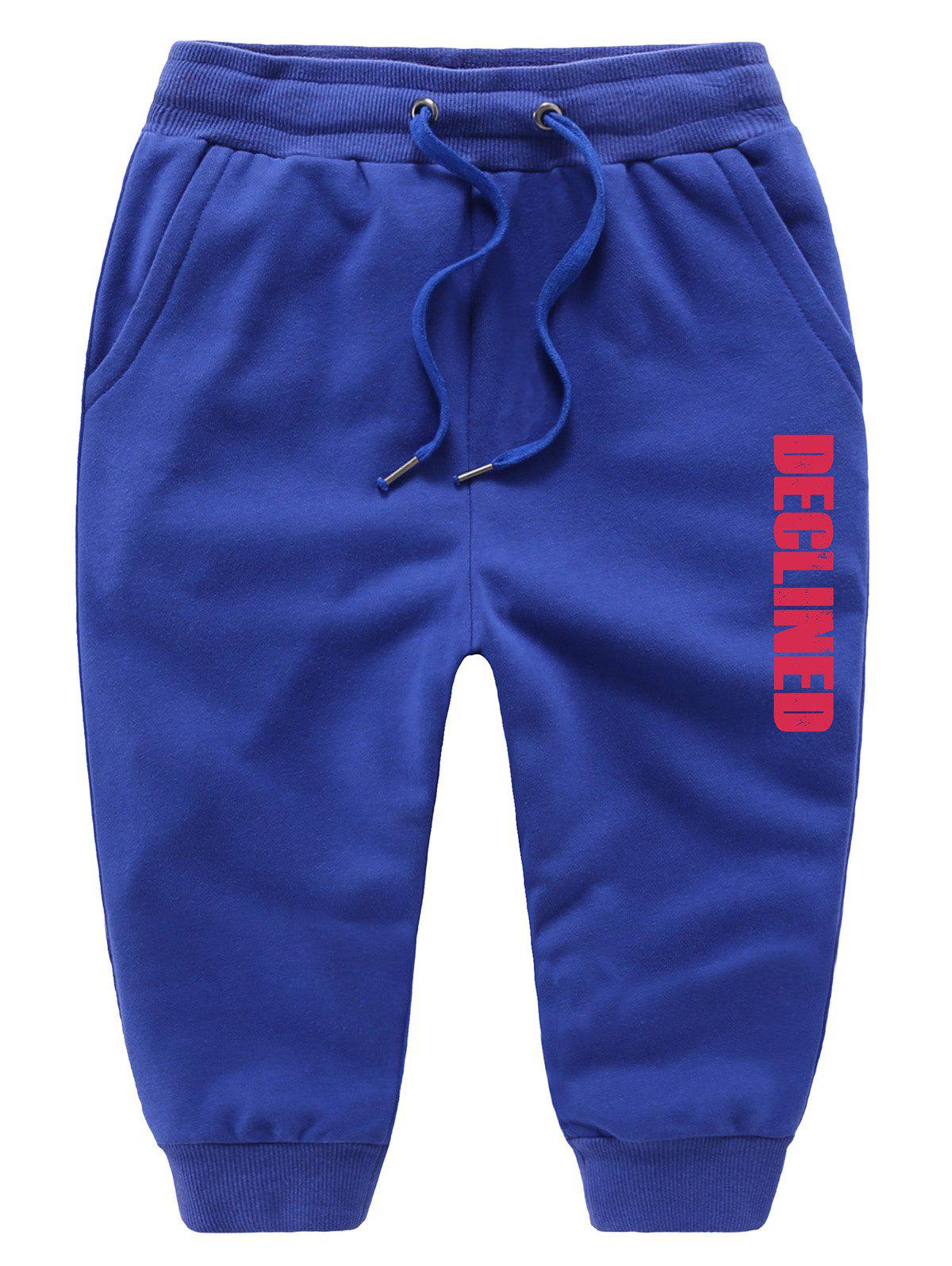 Best Casual Drawstring Letter Print Kids Sweatpants