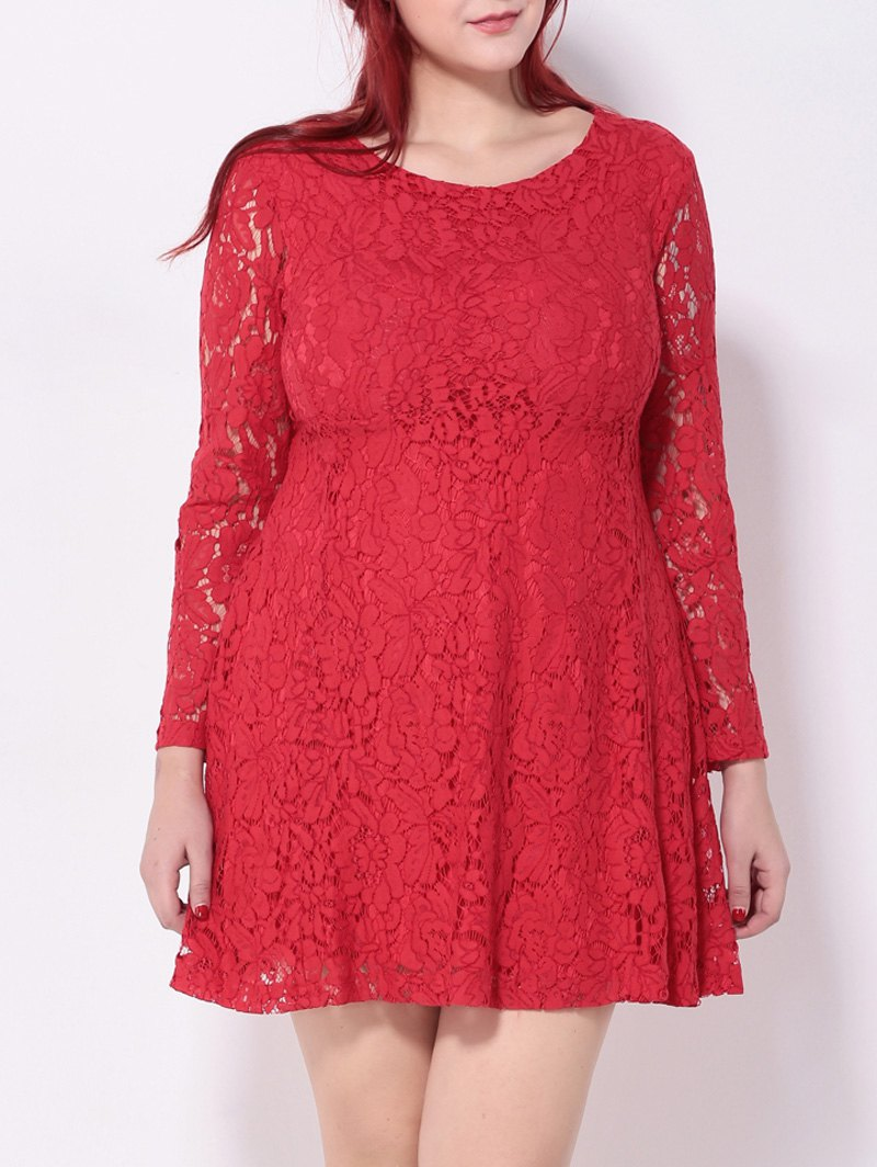 Shop Crochet Lace Flare Dress