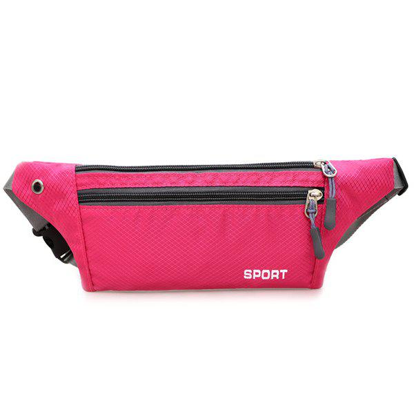 Affordable Colour Spliced Double Zipper Nylon Crossbody Bag