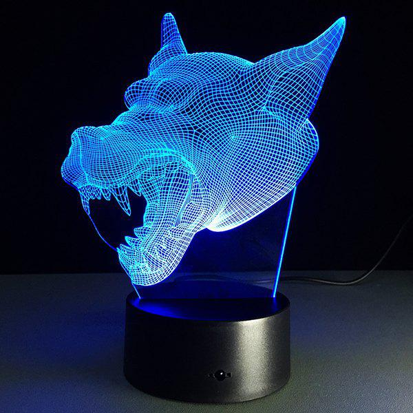 Latest 7 Color Changing 3D Bulbing Light Werewolf Pictures Night Light