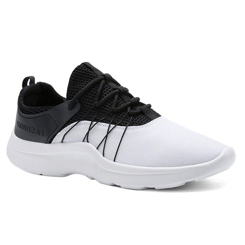 Shop Lace Up Mesh Athletic Shoes