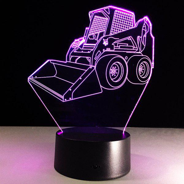7 Color Touch Changing 3D Bulldozer Night LightHOME<br><br>Color: TRANSPARENT; Style: Modern/Contemporary; Categories: Light; Material: Acrylic,Plastic; Voltage(V): 5V; Power (W): 3W; Size(CM): 24CM?Height?; Weight: 0.378kg; Package Contents: 1 x Night Light  1 x  USB Cable;