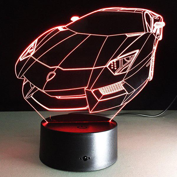 7 Color Touch Changing 3D Roadster Night LightHOME<br><br>Color: TRANSPARENT; Style: Modern/Contemporary; Categories: Light; Material: Acrylic,Plastic; Voltage(V): 5V; Power (W): 3W; Size(CM): 24CM?Height?; Weight: 0.396kg; Package Contents: 1 x Night Light  1 x  USB Cable;