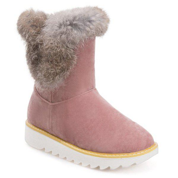 Trendy Furry Platform Snow Boots