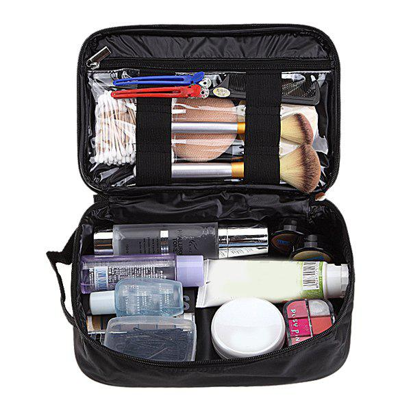 Waterproof Makeup Storage BagBEAUTY<br><br>Color: BLACK; Category: Cosmetic Case; Features: Travel; Season: Fall,Spring,Summer,Winter; Size(CM)(L*W*H): 27.5*17.5*8cm; Weight: 0.200kg; Package Contents: 1 x Bag;
