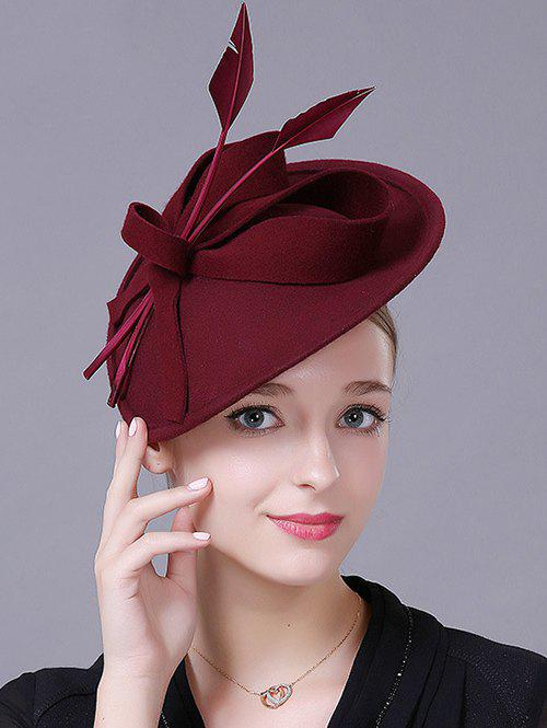 Affordable Charming Floral Fancy Feather Wool Cocktail Hat 318a6c4fe9f