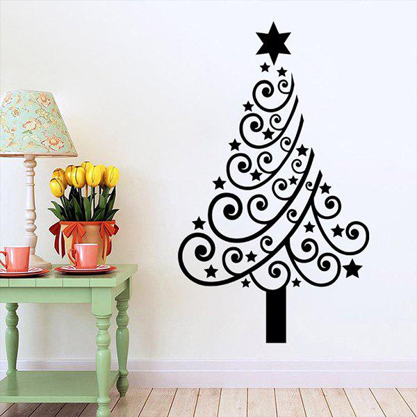 2019 multicolor christmas tree glass window vinyl wall stickers
