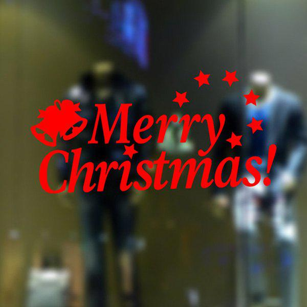 Letters Merry Christmas Removable Glass Window Wall StickersHOME<br><br>Color: RED; Wall Sticker Type: Plane Wall Stickers; Functions: Decorative Wall Stickers; Theme: Christmas,Holiday; Material: PVC; Feature: Removable,Washable; Size(L*W)(CM): 58*23; Weight: 0.166kg; Package Contents: 1 x Wall Stickers;