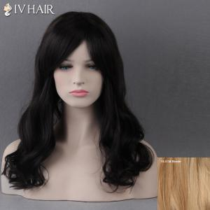 Long Side Bang Wavy Siv Human Hair Wig