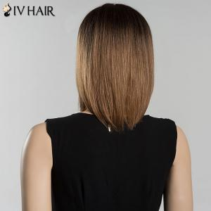 Mixed Color Short Bob Centre Parting Straight Siv Human Hair Wig - COLORMIX