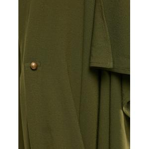 Tie Belt Adjustable Sleeve Trench Coat -