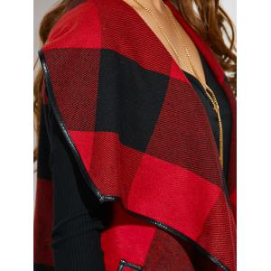 Belted Plaid Wrap Coat -