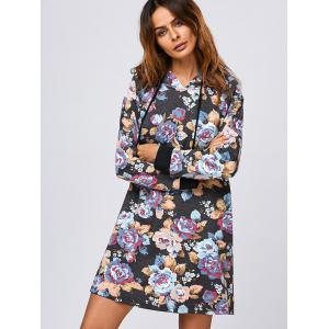 Floral Hooded Dress -