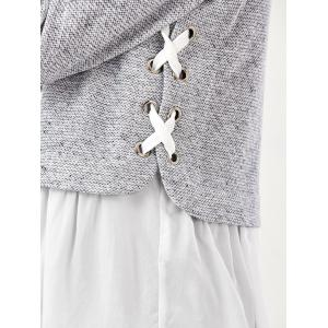 Lace Up Flounced Pullover -