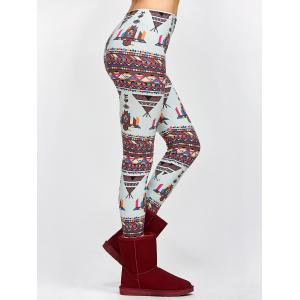 Funny Geometrical Print Bodycon Leggings -