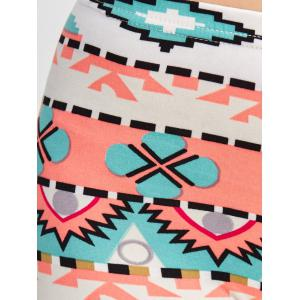 Geometrical Printed Bodycon Leggings - COLORMIX ONE SIZE