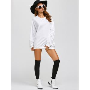 Active Batwing Sweatshirt Dress - WHITE ONE SIZE