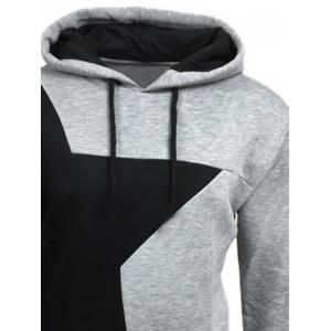 Color Block Star Splicing Hoodie -