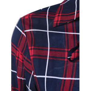 Lace Up Plaid Shirt -