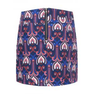 Tribe Print High Waist A Line Skirt -