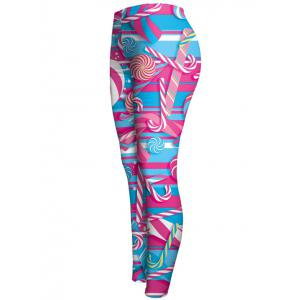 High Waist Lollipop Print Ninth Leggings -