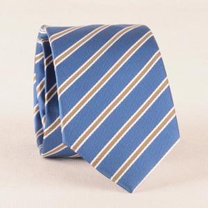 Casual Striped Tie Pocket Square Bow Tie - LIGHT BLUE