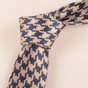 Casual Houndstooth Pattern Tie Pocket Square Bow Tie -