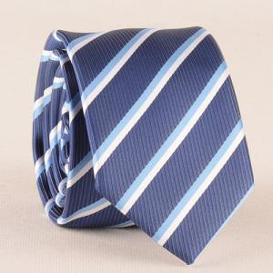 Classical Stripe Pattern Tie Pocket Square Bow Tie - MEDIUM BLUE
