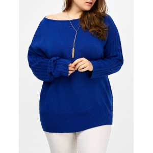 Plus Size Ribbed Cut Out Sweater