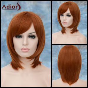 Adiors Short Side Bang Straight Lolita Synthetic Wig - Yellow Orange - 30inch