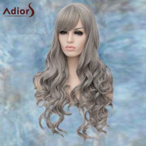 Adiors Long Side Parting Wavy Lolita Synthetic Wig - GRAY