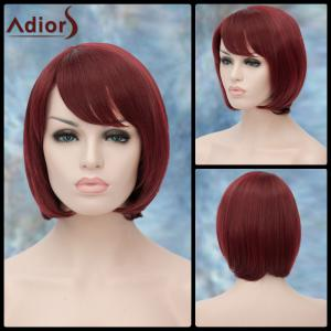 Adiors Short Side Bang Straight Bob Haircut Lolita Synthetic Wig