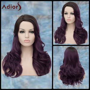 Adiors Long Side Parting Curly Purple Ombre Lolita Synthetic Wig