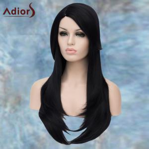 Adiors Long Side Parting Straight Layered Tail Adduction Lolita Synthetic Wig -