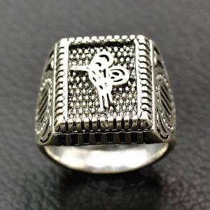 Classic Embossed Geometry Ring - SILVER 21