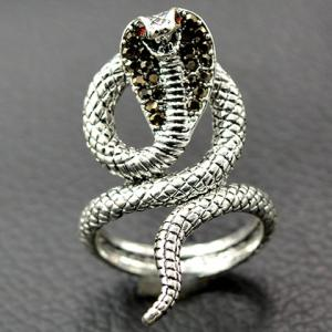 Vintage Twine Snake Embossed Open Ring