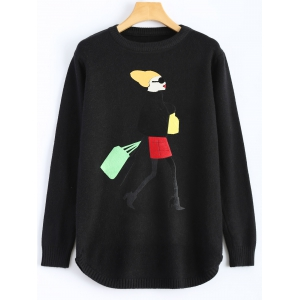 Girl Graphic Crew Neck Sweater