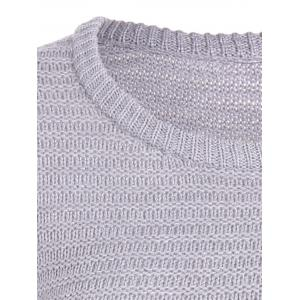 Ombre Longline Knitted Sweater - GRAY ONE SIZE