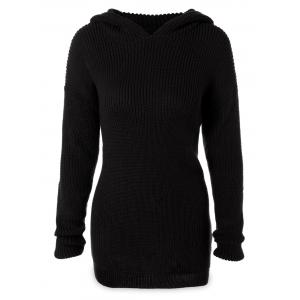 Longline Hooded Chunky Sweater