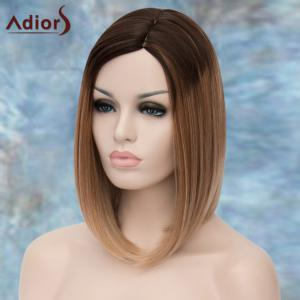 Adiors Medium Straight Ombre Side Parting Synthetic Wig - COLORMIX