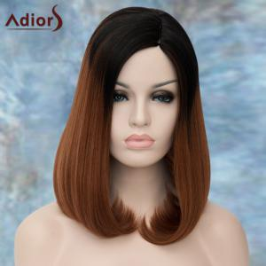 Adiors Medium Side Parting Straight Tail Adduction Synthetic Wig - COLORMIX