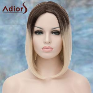 Adiors Medium Ombre Straight Middle Parting Synthetic Wig - COLORMIX