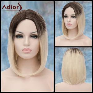 Adiors Medium Ombre Straight Middle Parting Synthetic Wig