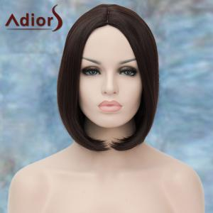 Adiors Short Centre Parting Straight Bob Synthetic Wig - DEEP BROWN